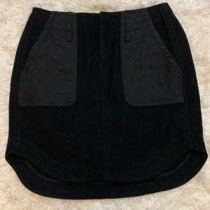 Madewell black wool mini skirt